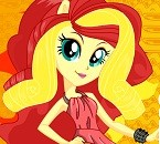 Pony Sunset Shimmer Dress Up (576 times)