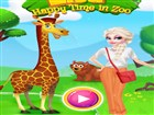 Elsa Happy Time In Zoo